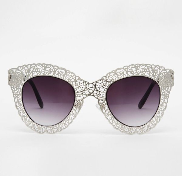 Jeepers Peepers Filigree Cateye Sunglasses