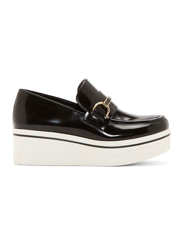 Stella McCartney Black Patent Scarpa Plat S. Gomma Platform Loafers