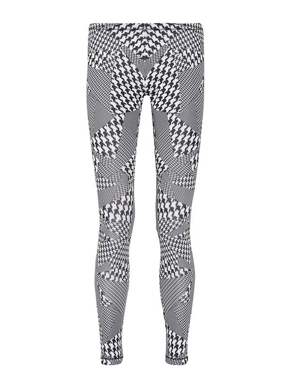 MCQ Alexander McQueen Houndstooth-Print Stretch-Jersey Leggings