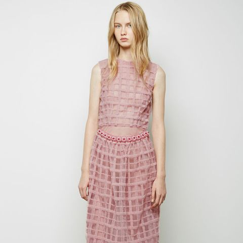 Wool Embroidered Bauble Belt Dress