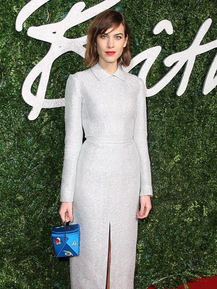 Alexa Chung Emma Watson More Shine At 2014 British Fashion Awards Who What Wear Uk