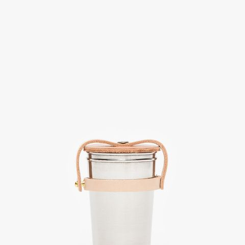 Leather and Steel Cup Set