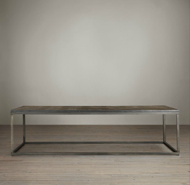 Restoration Hardware Metal Parquet Coffee Table
