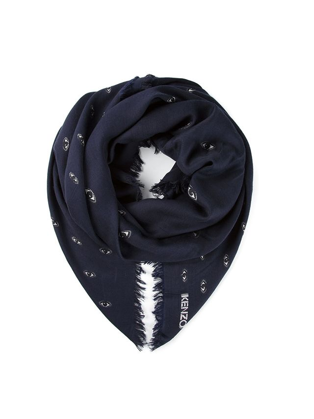 Kenzo Eye Embroidered Scarf
