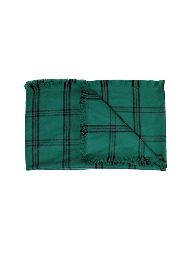 Tibi Evergreen Plaid Scarf