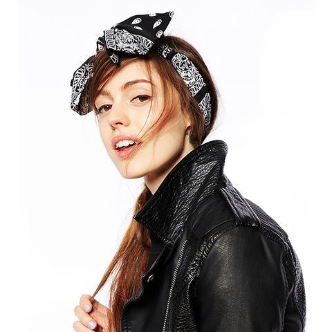 Bandana Print Bow Headband