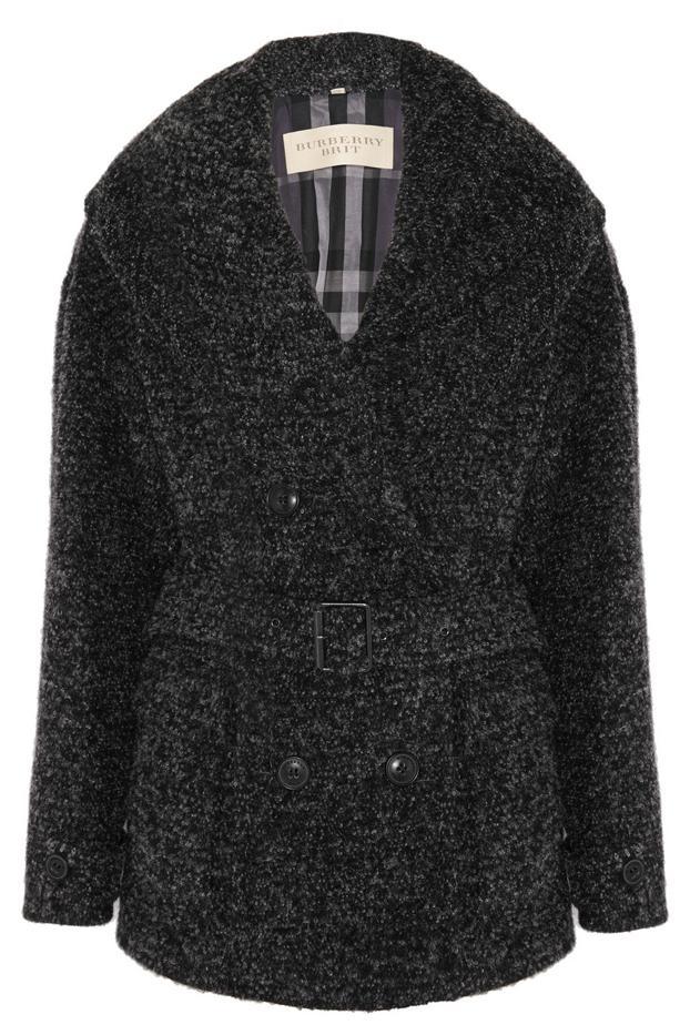 Burberry Brit Wool-Blend Bouclé Cardi-Coat