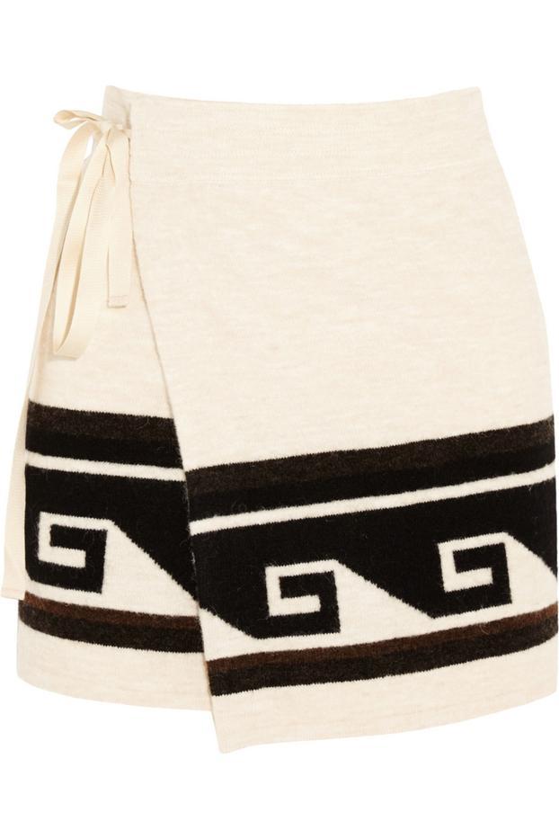 Isabel Marant Sienna Knitted Wrap Mini Skirt