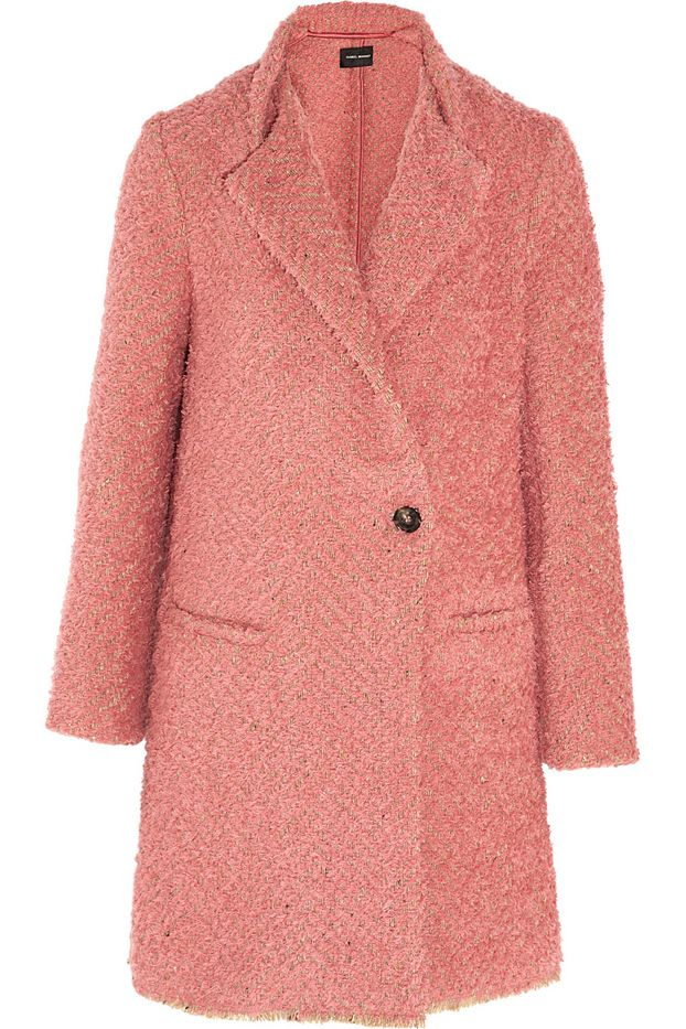 Isabel Marant Gloria Herringbone Boulcé Coat