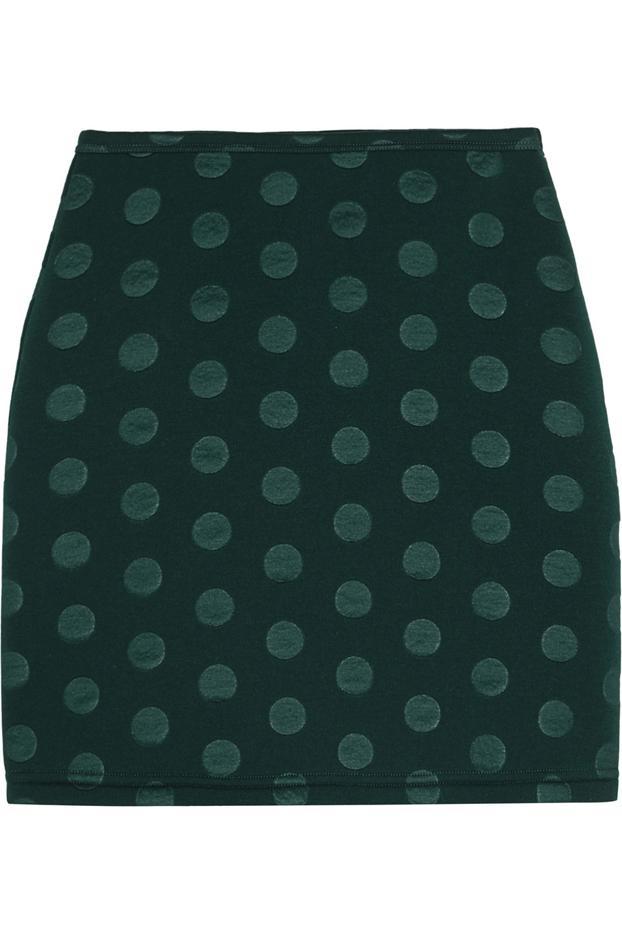 Sonia by Sonia Rykiel Embossed Scuba-Jersey Mini Skirt