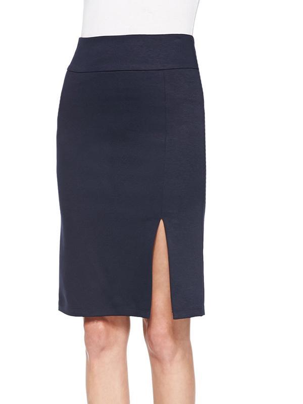 Alice + Olivia Front-Slit Ponte Pencil Skirt