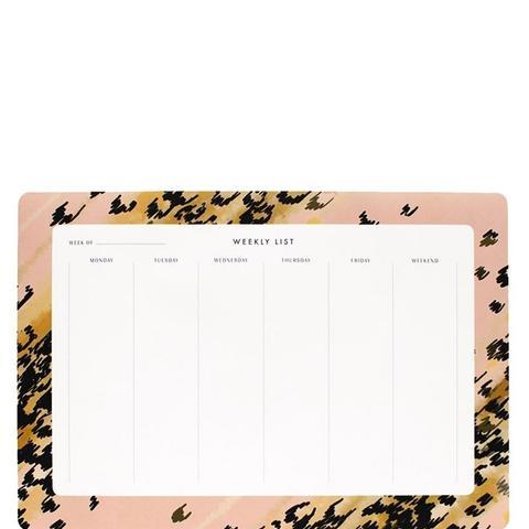 Leopard Weekly Desk Pad