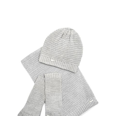 Waffle Knit Hat, Gloves, and Scarf Set
