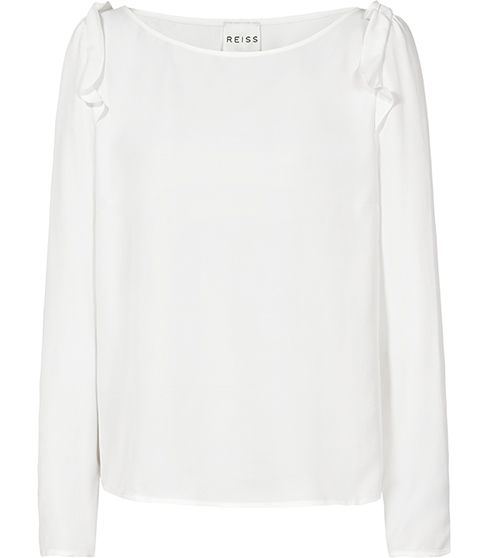 Reiss  Emilia Frill Shoulder Top