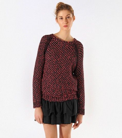 Maje  Azalee Red Knit Sweater