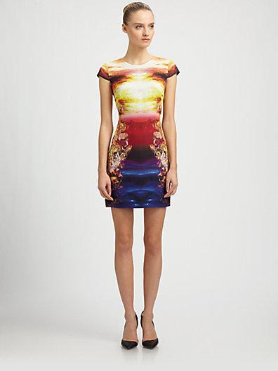 McQ Alexander McQueen Woven Silk Mineral-Print Dress
