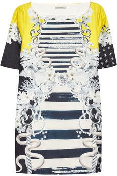 Emma Cook Printed Sateen Dress