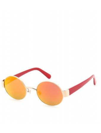 Marni  Edition Mirrored Oval Sunglasses