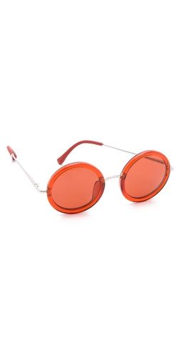 Linda Farrow for The Row  Rounded Sunglasses