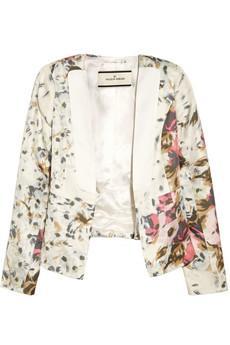 By Malene Birger  Salisca Floral-Print Silk-Twill Blazer