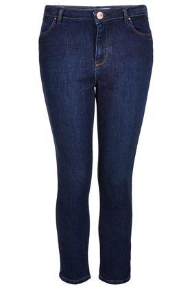 Topshop Moto  Indigo Crop Skinny Jeans