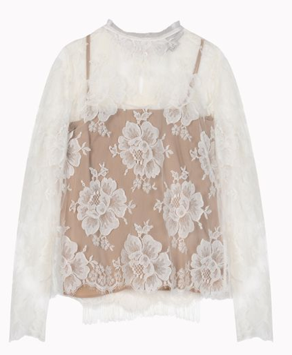 Stella McCartney Off-White Cotton Lace Randall Shirt