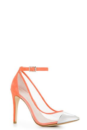 BCBGeneration Cynthia Clear Pumps