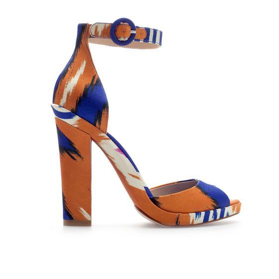 Zara  Platform Heel Sandals