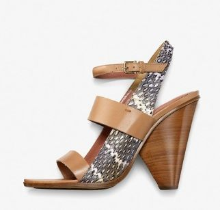 Derek Lam ] Natural Leather and Multi Snake Bijou Sandals