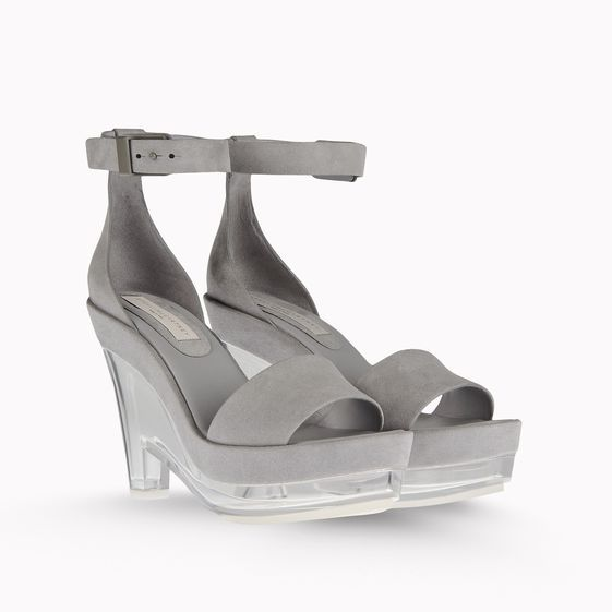 Stella McCartney  Valerie Faux Suede Plexi Wedges