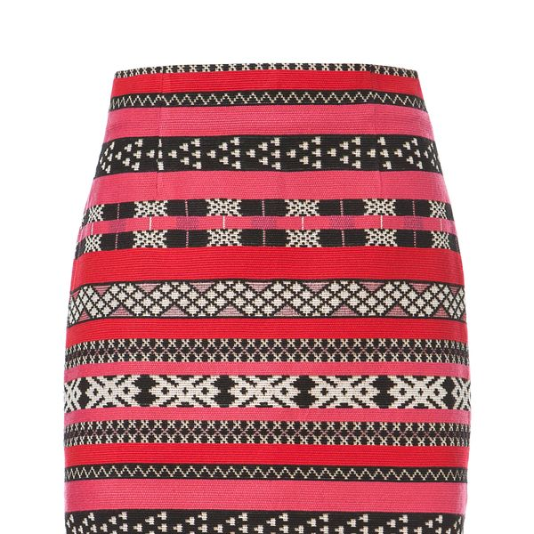 Zara Ethnic Jacquard Mini Skirt