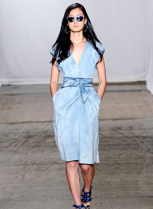 Your Best Bet For Spring? A Versatile Denim Dress