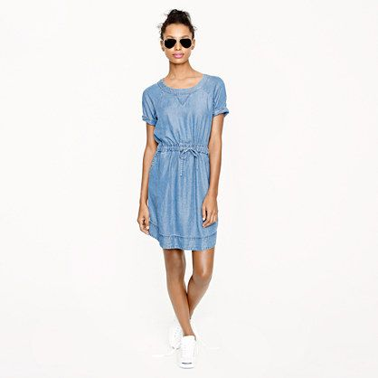 J.Crew Lightweight Washed Chambray Dress