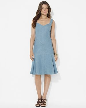 Lauren Ralph Lauren Sleeveless Denim Dress