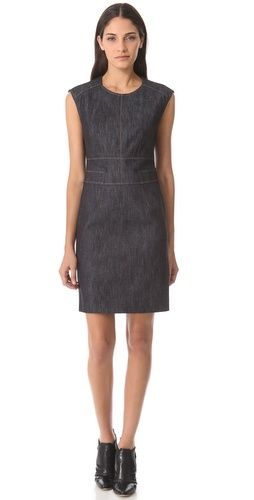 Derek Lam Cap Sleeve Denim Dress