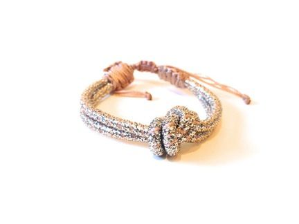 Sequence  Sequence Metallic Love Knot Bracelet