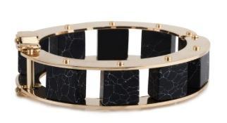 Lele Sadoughi Lele Sadoughi Stone Cube Slider Bracelet