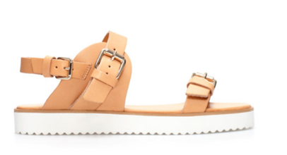 Zara Flat Sandals with Buckle