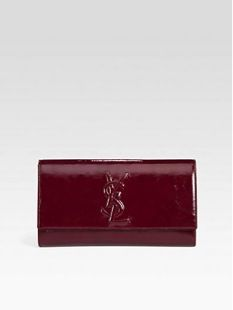 Saint Laurent Large Patent Leather Clutch