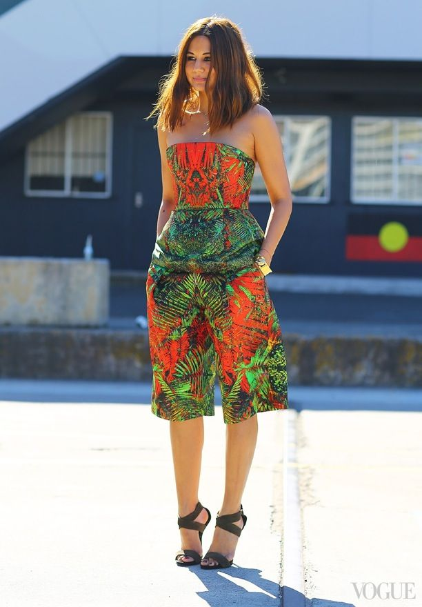 Street Style: Print Jumpsuits
