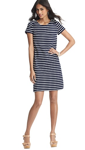 Loft Striped T-Shirt Dress