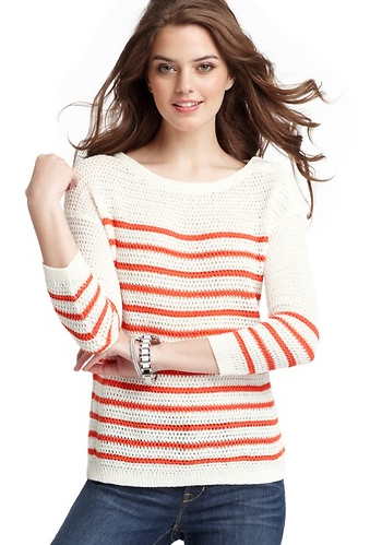 Loft Textured Button Shoulder Sweater