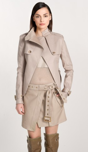 Salvatore Ferragamo Cropped Trench Jacket