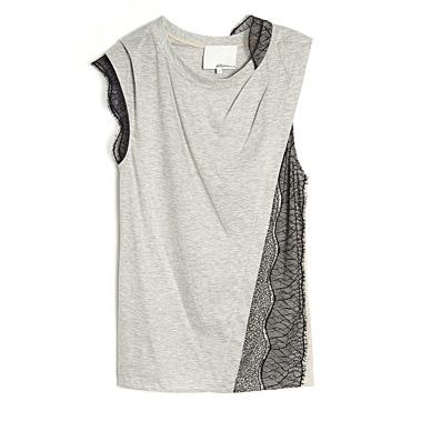 3.1 Phillip Lim  Peek-A-Boo Lace Panel Top