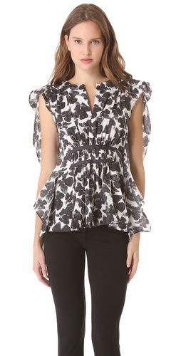 Thakoon Butterfly Sleeve Top