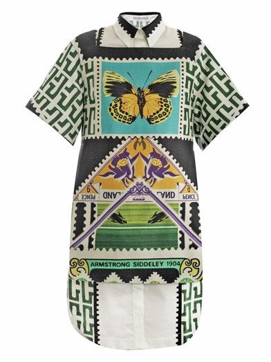 Mary Katrantzou Teleport Raffia Double Layer Dress