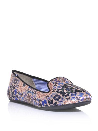 Charles Philip Shanghai Yasmine Butterfly-Print Slippers