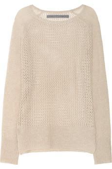 Raquel Allegra  Open-Knit Cashmere Sweater