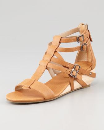 Elieen Fisher  Echo Low-Wedge Gladiator Sandals