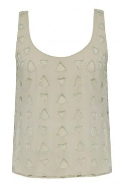Alice + Olivia  Beatrix Beaded Tank Top